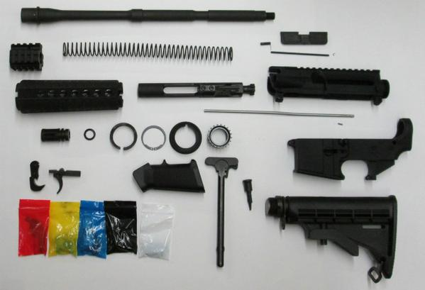 AR-15 Complete Rifle Kit with AR15 80% Lower